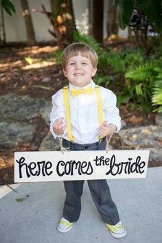 my cutie pie ring bearer, check out those yellow chucks!