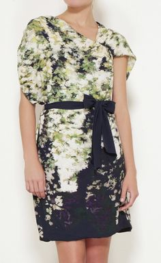 Yigal Azrouel Blue, Green, White And Multicolor Dress