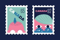 Canada Stamps on Behance