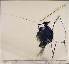 Robert Motherwell - Untittled -  Casein on plasterboard 67 1/8 x 71 3/4 in. (170.5 x 182.3 cm) The Smithsonian American Art Museum