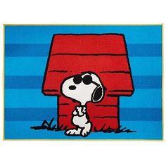 "Peanuts Snoopy Nylon Room Rug, 4'6"" x 3'9"" - Walmart.com"