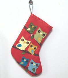 ooot stocking {aww I love this idea by adding as many members of the family, in my case 5 hoots} @Rebeca Gonzalez