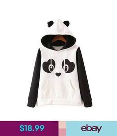 Sweats & Hoodies Fashion Women Cute Funny Panda Animal Cosplay Sweater Sweatshirt Warm Hoodies #ebay #Fashion