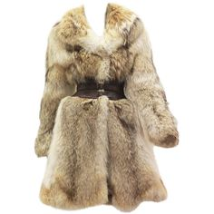 Pre-owned Fine and rare Alexander McQueen Corseted Coyote Fur Coat... ($28,896) ❤ liked on Polyvore