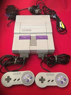 Super Nintendo Entertainment System Console SNES 1991 SNS-001 Controllers Cords - http://video-games.goshoppins.com/video-game-consoles/super-nintendo-entertainment-system-console-snes-1991-sns-001-controllers-cords/