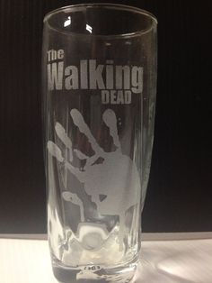Limited The Walking Dead Etched Glass
