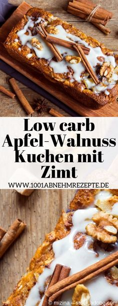 Apple Walnut Cake low carb: Quick recipe- Apfel-Walnuss-Kuchen low carb: Schnelles Rezept This low carb apple and walnut cake with cinnamon is … - Quick Recipes, Low Carb Recipes, Low Carb Desserts, Dessert Recipes, Dinner Recipes, Food Tags, Walnut Cake, Food Words, Frugal Meals