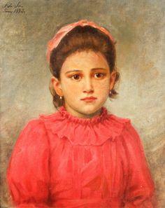 Menina do vestido vermelho, 1893 Eduardo Sá (Brasil, 1866-1940) óleo sobre tela, 46 x 38 cm Coleção Particular