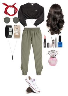 Untitled #19 by awwitsmee on Polyvore featuring polyvore, fashion, style, NIKE, White House Black Market, Converse, Karen Kane, Casetify, Ray-Ban, Maybelline, Stila and Limedrop