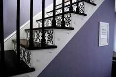 painted, stenciled stairs