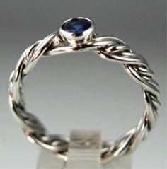 Diamond Wedding Rings Artist Braided Engagement Rings Unique and Diamond Rings. I LOVE THIS!!!!!