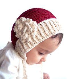 Christmas baby hat new years hat first birthday por LovelyKensie