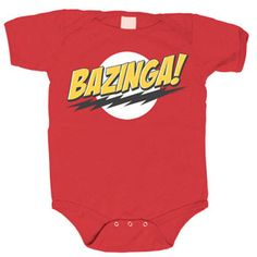 Gifts for Baby: Bazinga! Onsie @ Think Geek