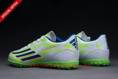 Core White/Rich Blue/Solar Green FG ADIDAS ADIZERO F50