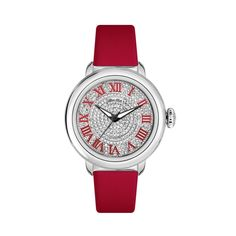 GLAM ROCK WOMEN'S BAL HARBOUR DIAMOND 40MM RED SWISS QUARTZ WATCH GR77034 #Fashion