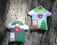 felt house ornament - Google Search