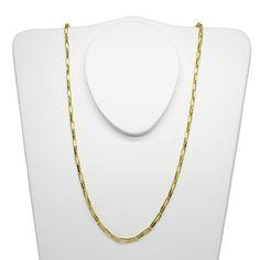 809a0510574 Corrente de ouro 18k cartier alongada 2.85mm com 60cm