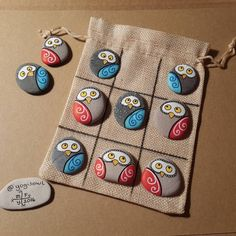 Arts And Crafts For Kids Refferal: 5545355475 Pebble Painting, Pebble Art, Stone Painting, Diy Painting, Owl Crafts, Crafts To Sell, Diy And Crafts, Arts And Crafts, Art Adulte
