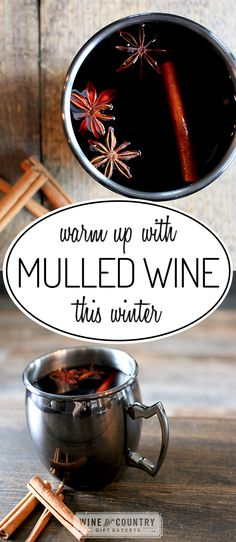 Warm up from the inside out with this DELICIOUS, winter-perfect mulled wine recipe. Fun fact: mulled wine is known as 'Gluhwein' (pronounced 'glue-vine') in German-speaking countries! Spiced Wine, Spiced Apple Cider, Spiced Apples, Mulled Wine Recipe Crockpot, Wassail Recipe, Christmas Dinner Menu, Christmas Drinks, Holiday Drinks, Cucina