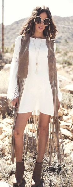 Fringe vest, gypsy vest, Coachella style, Coachella accessories, Coachella looks, Coachella fashions