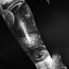 Male With Black And White Universe Tattoo Above Ripples Tattoo On Forarms tatuajes   Spanish tatuajes  tatuajes para mujeres   tatuajes para hombres   diseños de tatuajes http://amzn.to/28PQlav