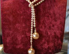 Antique 1920s luxury pearl necklace jewelry antique Rousselet