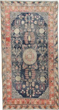 View this beautiful Antique Khotan Oriental Rug #44542 from Nazmiyal's fine antique rugs and decorative carpet collection.