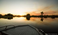 Sunset in the Okavango Delta in Botswana Okavango Delta, Safari, River, Island, Sunset, Photos, Outdoor, Outdoors, Pictures