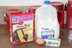 5 ways to make cake mix better - Use milk instead of water in a boxed cake recipe - see more ways