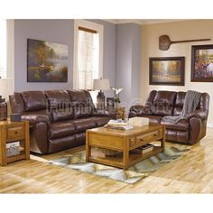 McAdams Brown Reclining Living Room Set