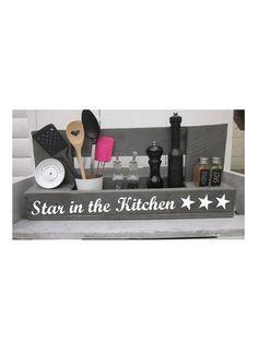 """Küchenregal """" Star in the kitchen"""" von Holzherz auf DaWanda.com"""