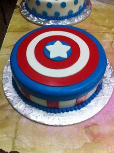 Capitan america cake Superhero Birthday Party, 1st Birthday Parties, 3rd Birthday, Cupcakes, Cupcake Cakes, Pastel Capitan America, America Cake, Cakes And More, Cake Decorating