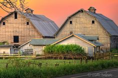 Twin Barns ~ Morning Light