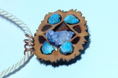 Black walnut pendant, Druzy pendant, turquoise necklace, druzy quartz necklace, Druzy quartz jewelry, Boho necklace, Bohemian jewelry, Gifts For Girls, Gifts For Women, Wire Wrapping Crystals, Drop Earrings, Pendant, Trending Outfits, Unique Jewelry, Handmade Gifts, Turquoise