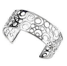 Elements - B3174 - Bracelet Manchette Femme - Argent 925/1000 22.52 Gr: Amazon.fr: Bijoux