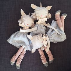 Sleeping Unicorn Lola dolls