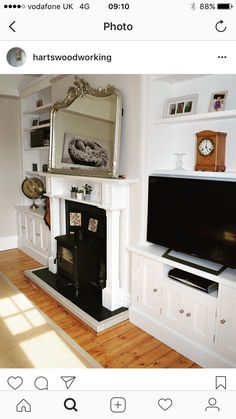 Cupboards built into alcoves