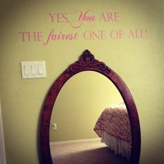 Mirror, mirror on the wall....fun vinyl for girls dress up mirror....