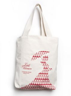 Carry your stuff to the beach or wherever you're going in style with the Louis Jambor cover art for Little Women by Louisa May Alcott tote from Out of Print.  Proceeds go to Books for Africa.