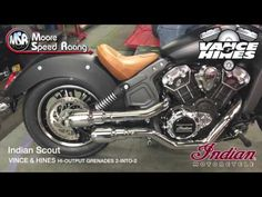 Vance & Hines GRENADES  Exhaust 2 into 2 Indian Scout Sound Test
