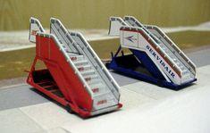 British Airways Ramp Free Paper Model Download - http://www.papercraftsquare.com/british-airways-ramp-free-paper-model-download.html#1100, #1200, #1300, #Ramp, #Stair