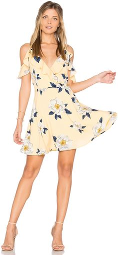 Shop for J. Flower Print Cold Shoulder Flare Dress in Yellow Multi at REVOLVE. Free day shipping and returns, 30 day price match guarantee. White Ruffle Dress, White Floral Dress, Yellow Dress, Fit N Flare Dress, Fit And Flare, Floral Frocks, Summer Outfits, Summer Dresses, Up Girl
