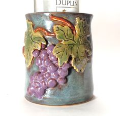 Made to Order Pottery Wine Chiller,Ceramic Wine Chiller,Utensil Holder,Wine Accessories,Kitchen Decor,pottery ice bucket, by SoulShinePottery on Etsy https://www.etsy.com/shop/SoulShinePottery?ref=hdr_shop_menu