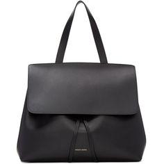 Mansur Gavriel Black Leather Lady Bag (£635) ❤ liked on Polyvore featuring bags, handbags, shoulder bags, black, drawstring shoulder bag, genuine leather purse, structured handbags, genuine leather handbags and genuine leather shoulder bag