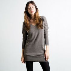 The Slouchy Tunic Taupe - Everlane