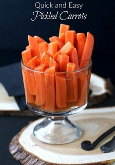 Quick and Easy Pickled Carrots Ginny McMeans,20 Mar 03:55 AM  Easy Pickled Carrots are quick and tasty. Sweetened just right!   They also make a r...