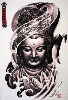15 Most Famous Gautama Buddha Tattoo Designs 42 Tattoo, Tatoo Art, Back Tattoo, Lotus Tattoo, Buddha Tattoo Design, Buddha Tattoos, Tattoo Sketches, Tattoo Drawings, Tattoo Studio