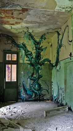 day of the triffids :) in Sanatorium Delirium by Romain Veillon, via Behance