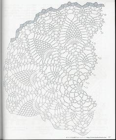Crochet pineapple shawl