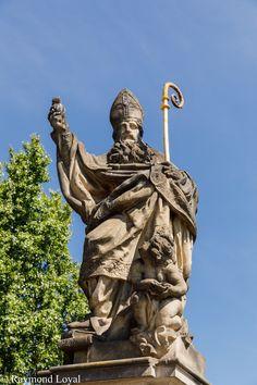 Charles Bridge Sculpture // Prague // photographer: Raymond Loyal // // visit my website Charles Bridge, Czech Republic, Prague, Statue Of Liberty, Tourism, Sculpture, Website, City, Travel